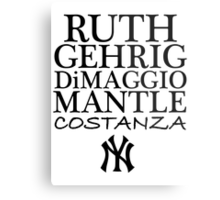 Costanza - Yankees Metal Print