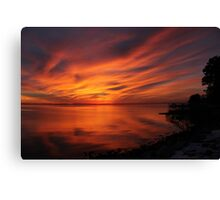 Amazing sunset. Sunset series Canvas Print