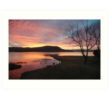 Firey sunrise  Art Print