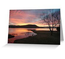 Firey sunrise  Greeting Card