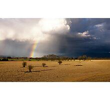 Rainbow storm Photographic Print