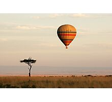 Dawn flight over the Masai Mara Photographic Print