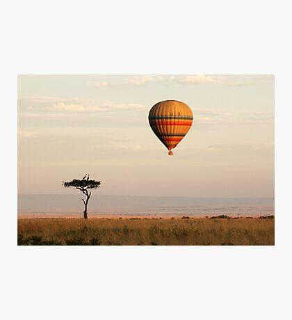 Dawn flight over the Masai Mara Photographic Print