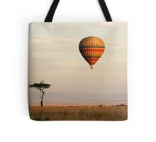 Dawn flight over the Masai Mara Tote Bag