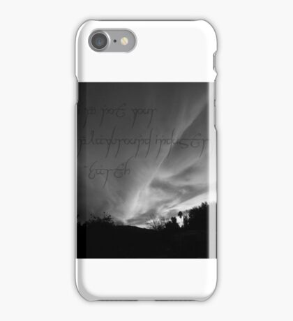 Unsilent Earth - Elvish Variation iPhone Case/Skin