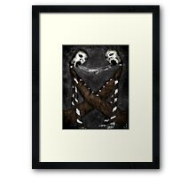 exchanging breath Framed Print