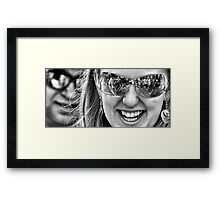 Reflective Smiles Framed Print