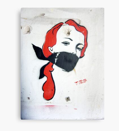 Bondage Girl Canvas Print