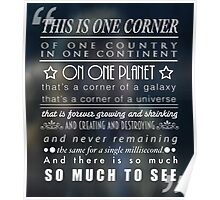 So Much To See Doctor Who Quote Poster