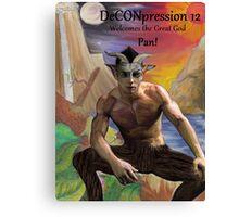 DeCONpression 12 Welcomes Pan Canvas Print