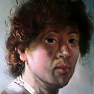 study head after Rembrandt, by Hidemi Tada