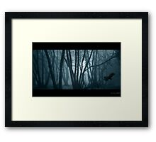 Black Wings Framed Print
