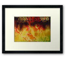 Noise Spray  Framed Print