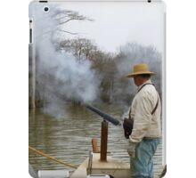 Firing The cannon iPad Case/Skin