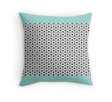 WINTER WHITE WITH RED & GREEN DOTS Throw Pillow