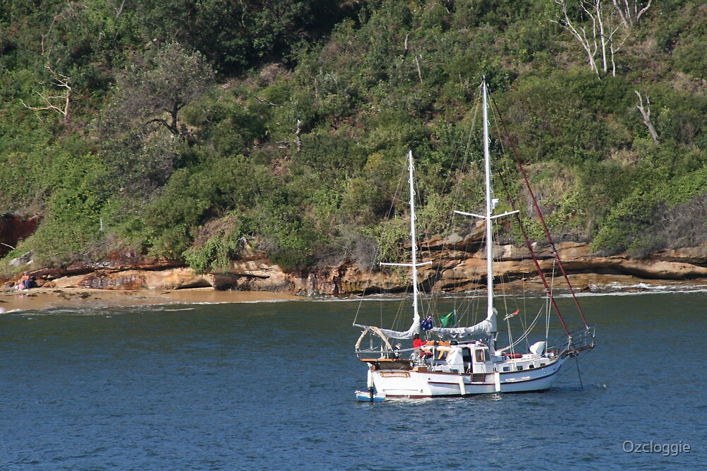 Anchored off Little Congwong Beach, La Perouse. by Ozcloggie