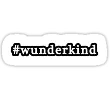 Wunderkind - Hashtag - Black & White Sticker