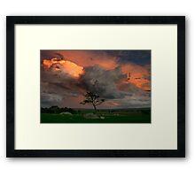 Late Storm Framed Print