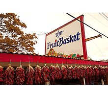 Fruit Basket Stand Photographic Print