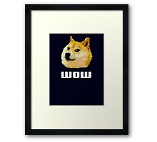 Wow - 8-bit Doge  Framed Print