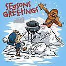 Snow Wars - Seasons Greetings card by DJKopet
