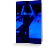 Ten-pin Bowling in Neon Greeting Card
