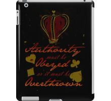 Alice Madness Returns: Authority Must Be Obeyed iPad Case/Skin