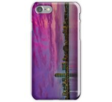 Sun dusk over Boston iPhone Case/Skin