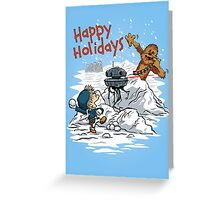Snow Wars - Happy Holidays card Greeting Card