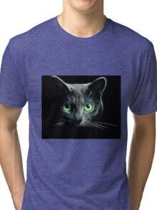 Kitty Cat eyes glow in the Dark Tri-blend T-Shirt
