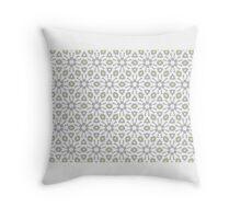 WHITE, SOFT GREY & LIGHT YELLOW GEOMETRIC  Throw Pillow
