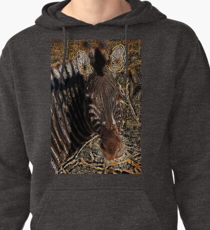 Zebra I - Coloured Pencil Pullover Hoodie