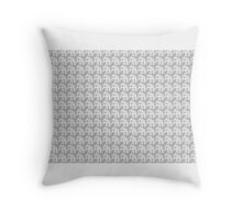 WHITE and GREY TONED MODERN GEOMETRIC DESIGN Throw Pillow