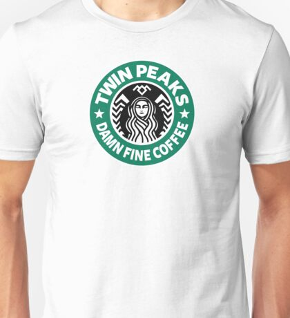 Twin Peaks, Damn Fine Coffee, Starbucks Coffee Unisex T-Shirt