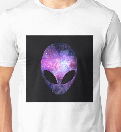 Alien Head With Conceptual Universe Purple                                  Unisex T-Shirt