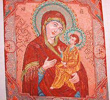 GOBELIN MADONNA WITH CHILD by ANDREEVA