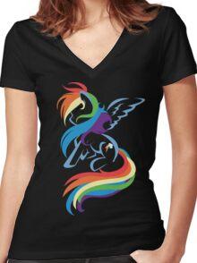 20% Cooler Dash Women's Fitted V-Neck T-Shirt