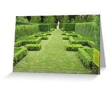 Hedges and sculpture Greeting Card