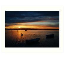 Swan Bay Sunset, Queenscliff Art Print