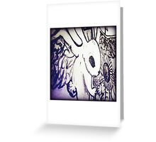 Winged Rabbit Greeting Card