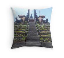 Mountain Temple Throw Pillow