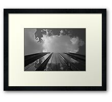 Looking Up v8 - AIG building, Hong Kong Framed Print