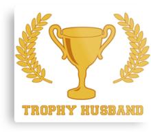 Happy Golden Trophy Husband Metal Print