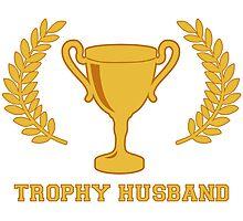 Happy Golden Trophy Husband Photographic Print