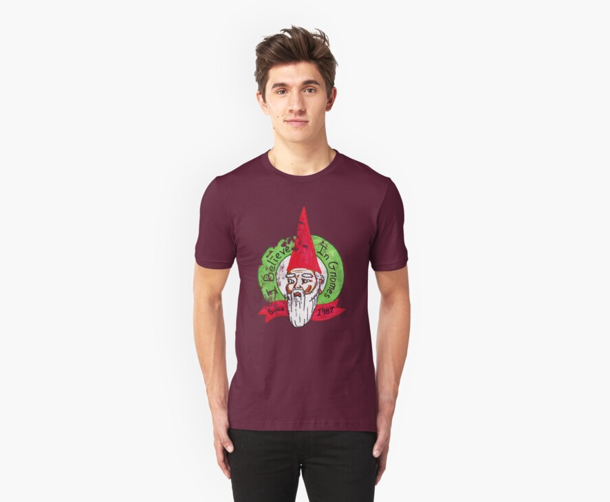 I believe in gnomes- distressed by Paul Simms