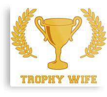Happy Golden Trophy Wife Metal Print
