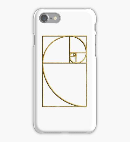 Golden Ratio Sacred Fibonacci Spiral iPhone Case/Skin