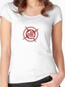 Recon Corps Logo White Women's Fitted Scoop T-Shirt