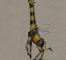 Bumble Giraffe by OneForWhimsy