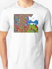 Bright and Vivid Blossoms Against Blue Sky Unisex T-Shirt